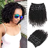 "Best Clip In Hair Extensions For African American Hairs - Urbeauty 14"" African American Afro Kinky Curly Clip Review"
