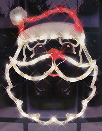 Outdoor Lighted Plastic Santa Claus - 3
