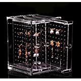 ONEONEY NEW Acrylic Earring Display Stand Organiser Holder Earring Studs Storage Clear