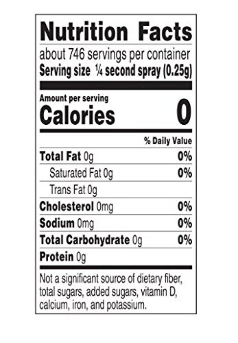 PAM Original Has No Cholesterol And Non-Stick Cooking Spray , 8 Ounce