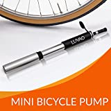 DELUXE Mini BIKE PUMP by Luvao - Presta & Schrader Valve Compatible - Reliable, Quick & Easy Bicycle Tire Pump for Road, Mountain & BMX Bikes - High Pressure 110 PSI - Frame Mount Kit