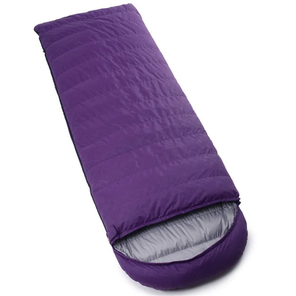 寝袋、封筒軽量睡眠袋ポータブル防水厚い睡眠袋屋外冬大人寝袋 (シングル),gray,800g B07MQQN9JC purple 400g 400g purple