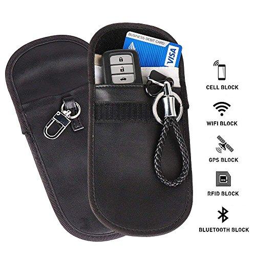 2Pcs Faraday Cage Bag Car Key Fob Protecting Pouch Bag, FOB Shield Guard Keyless Entry Remote RFID, Anti-theft Lock Devices, Car Key Protector WIFI GSM LTE NFC RF