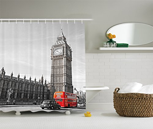 Ambesonne London Decor Collection, View of Big Ben for sale  Delivered anywhere in USA