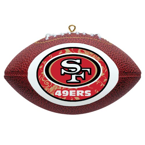 NFL San Francisco 49ers Mini Replica Football Ornament