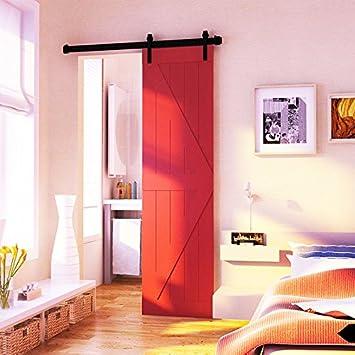 hahaemall - set di elementi di fissaggio per porta scorrevole in ... - Porte In Legno Di Design Di Alta Sicurezza