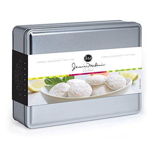 3 Flavor Gift Tin - Gourmet Southern Snacks by Janis & Melanie (Lemon, Raspberry, Key Lime - Tea Lime Cookies