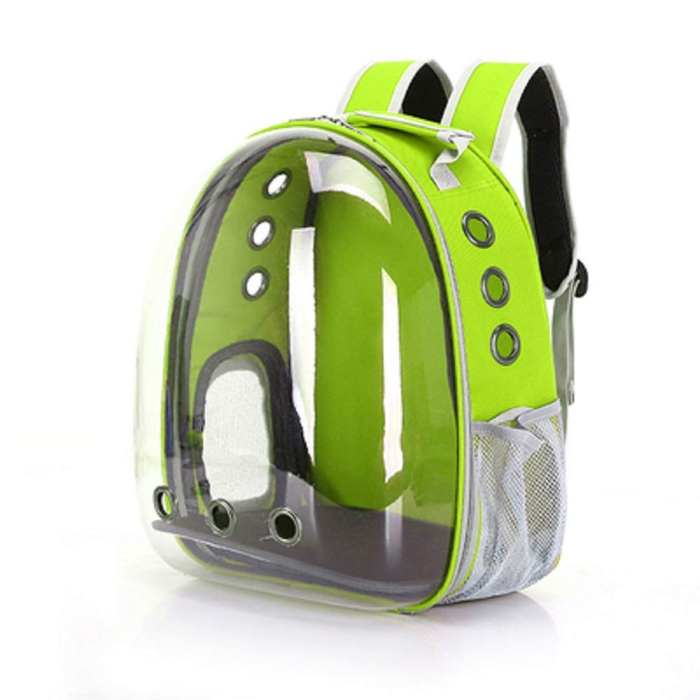 Fluorescentgreen Portable Travel Pet Carrier Backpack Waterproof,Space Capsule Bubble Design, Handbag Backpack for Cat and Small Dog,colors to Choose