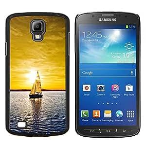 Qstar Arte & diseño plástico duro Fundas Cover Cubre Hard Case Cover para Samsung Galaxy S4 Active i9295 (Sunset yate)