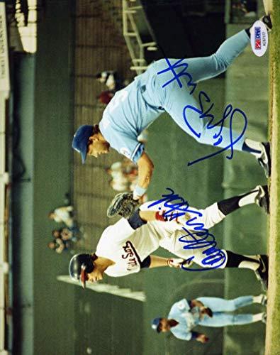 GEORGE BRETT CARLTON FISK PSA DNA Coa Hand Signed 8x10 Photo Authentic ()