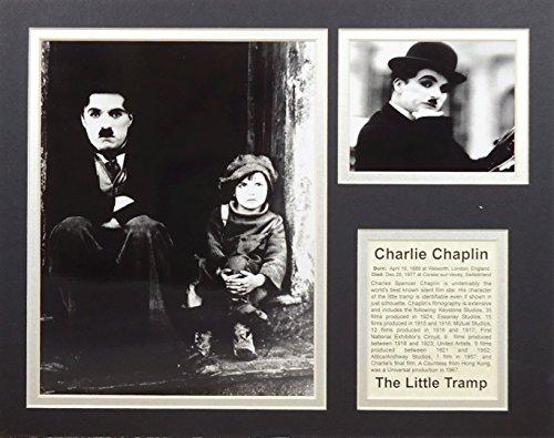 """Charlie Chaplin 11"""" x 14"""" Unframed Matted Photo"""