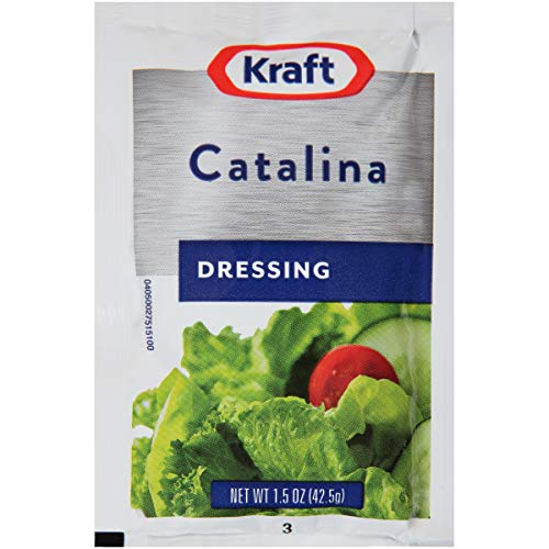 Kraft Catalina Salad Dressing Single Serve (1.5 oz Packets, Pack of 60)