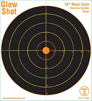 "50 Pack - 10"" Reactive Splatter Targets - Glowshot - Multi Color - Gun and Rifle Targets - Glow Shot"