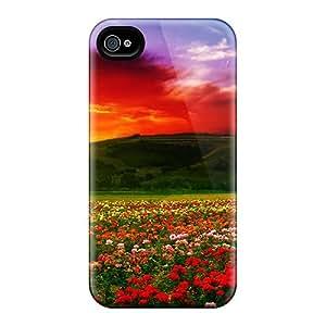 Excellent Design Roses At Dusk Phone Case For Iphone 4/4s Premium Tpu Case