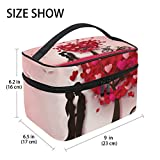 U LIFE Valentines Day Heart Love You Summer Spring Wedding Travel Cosmetic Makeup Toiletry Storage Bags Boxes Cases Organizers