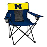 Logo Brands Collegiate Michigan Wolverines Elite Chair, Blue, Adult