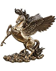 11 Inch Rearing Pegasus Statue Fantasy Magic Collectible Greek Flying Horse