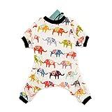 CuteBone Dog Pajamas Elephant Dog Apparel Dog Jumpsuit Pet Clothes Pajamas P03L