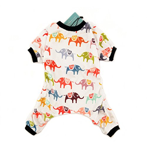 Pajamas Pet (CuteBone Dog Pajamas Elephant Dog Apparel Dog Jumpsuit Pet Clothes Pajamas P03L)