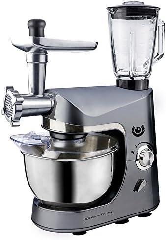 AFK Robot de cocina batidora máquina de picar carne para mezclar dispositivo 1200 W Gris: Amazon.es: Hogar