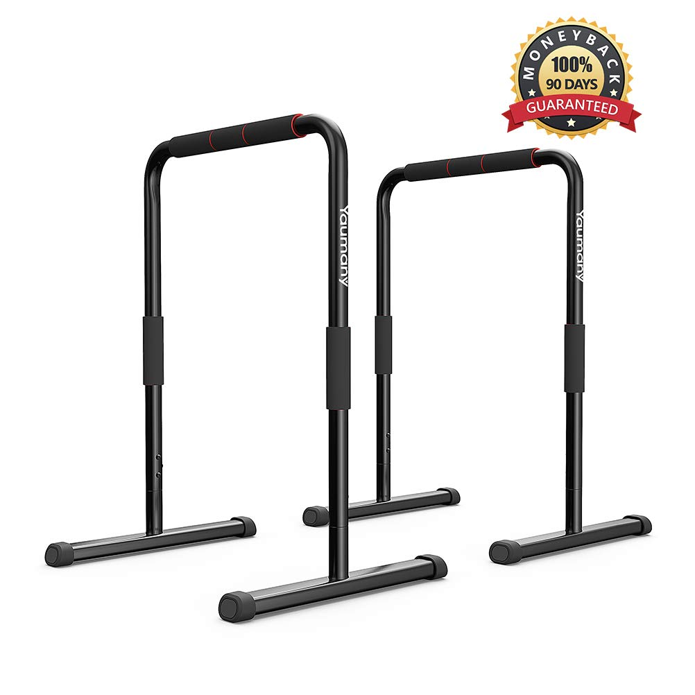 5b82a918ad3 Amazon.com   Yaumany Dip Stands-Fitness Parallette Dip Bars for Body  Strenthener,Pull-Ups