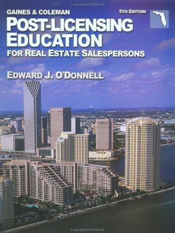 Post-Licensing Education for Real Estate Salespersons (Post-Licensing Education for Real Estate Sales Associates)