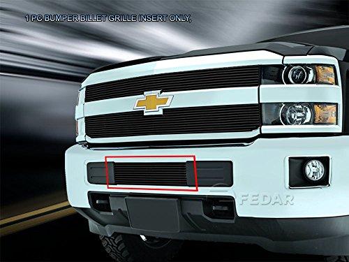 Fedar Lower Bumper Overlay Billet Grille Insert for 2015-2017 Chevrolet Silverado 2500HD/3500HD