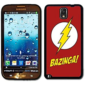 Samsung Galaxy Note 3 Black Rubber Silicone Case - Bazinga Shelton The Big Bang Theory
