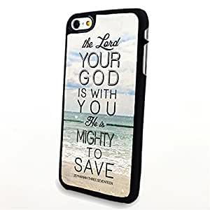 Generic Phone Accessories Matte Hard Plastic Phone Cases Quote Your God is with You fit for Iphone 6