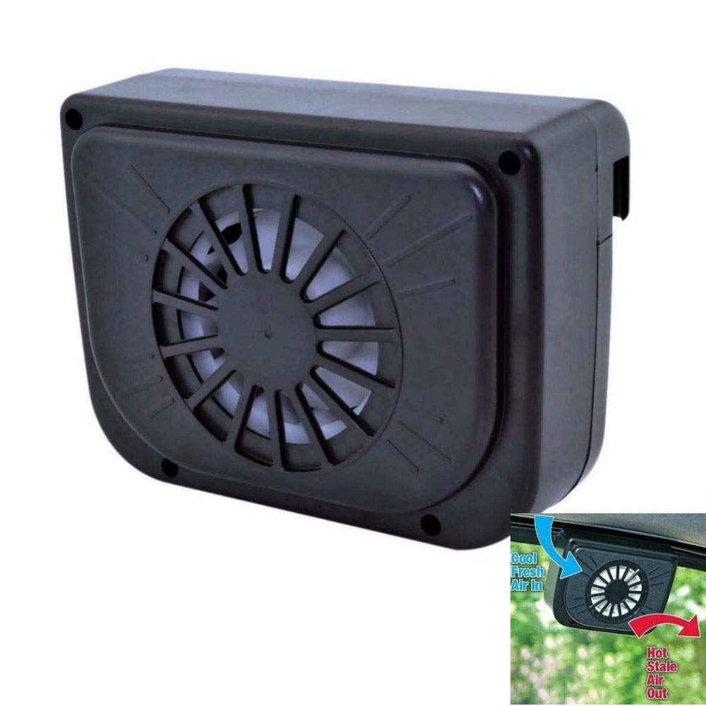 Winnes Solar Powered Car Fan Window Solar Fan Mini Air Conditioning Cooler  Fan Summer Cooling Air Circulation Pump