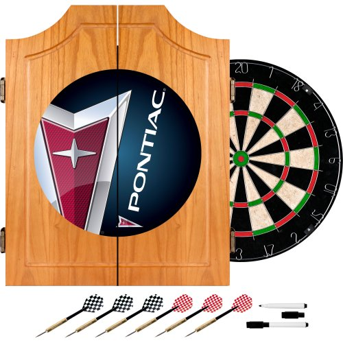 Pontiac Wood Dart Cabinet Set by Trademark Gameroom