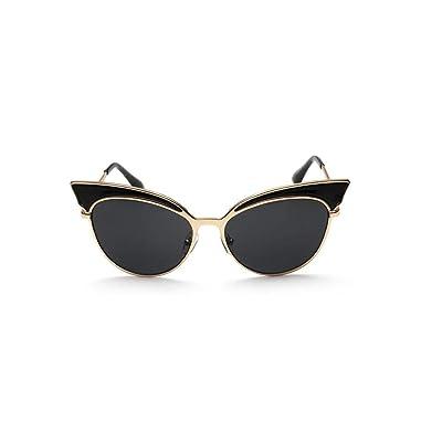 Alger Lunettes de soleil oeil de chat tendance Lunettes de style unisexe en métal style vintage conduite , B