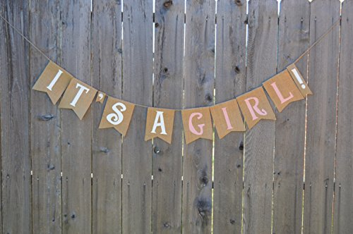 Burlap 'It's a Girl!' Banner for a Shabby Chic Baby Shower