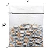 3Pcs Durable Honeycomb Mesh Laundry Bags for