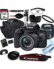 $899 » Canon EOS 850D (Rebel T8i) DSLR Camera with 18-55mm f/4-5.6 STM Zoom Lens + 32GB Card, Tripod, Case, and More (18pc Bundle)