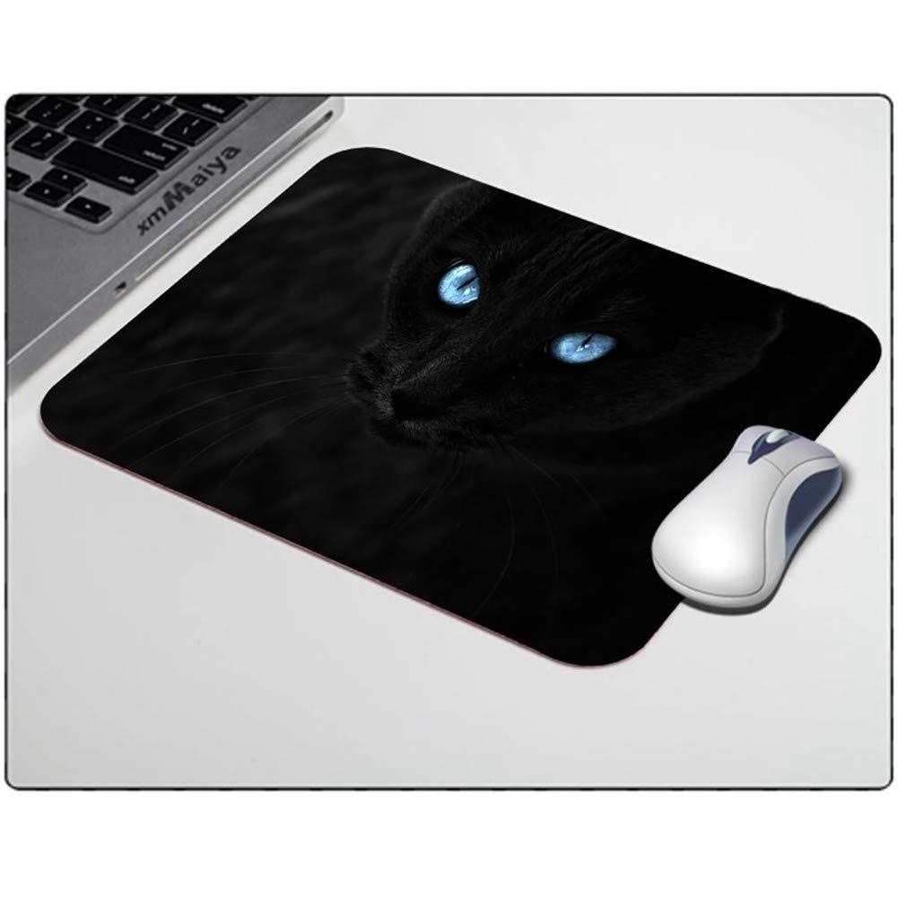 HSZXCRTF tapete Papel de Lujo Gato Negro Animales Hermosos Papel tapete Tapiz de ratón Alfombrillas de ratón Antideslizante Rectángulo 18  22 cm y 25  29 cm, 25  29 cm 88d6d2