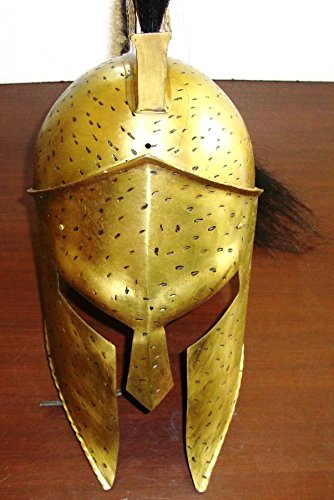 Leonidas Costume 300 (Tarexonline Men's King Leonidas Helmet From Movie 300 8.5X11.5X21.5 With Plume And Liner & Chin Strap Brown)
