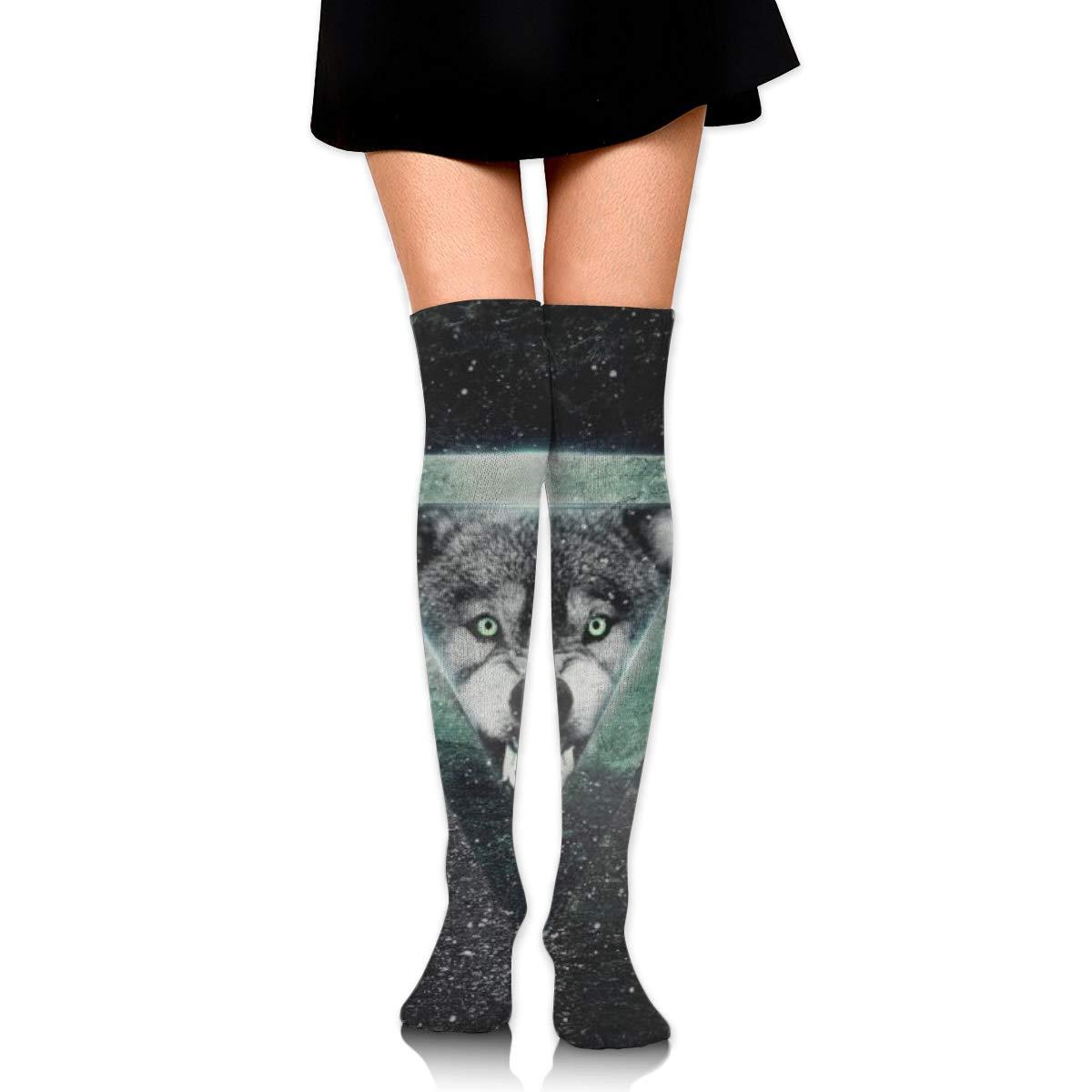 Kjaoi Girl Skirt Socks Uniform Triangle Wolf Women Tube Socks Compression Socks