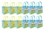 TINYMILLS Jesus Loves You Religious Christian Themed Treat Bags Gift Bags - 6'' (12 Bags)