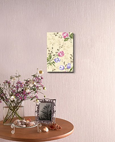 Eastern Oriental Seamless Flower Pattern Vintage Retro Style Wall Decor