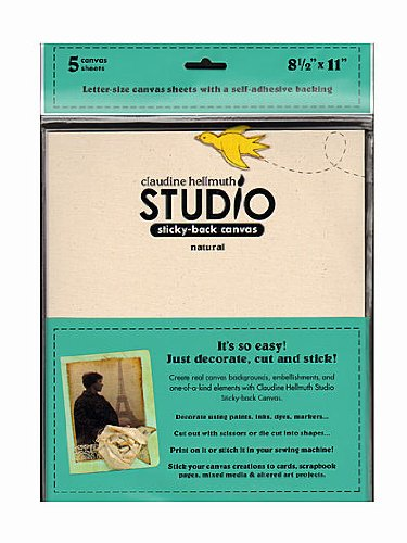 Ranger Claudine Hellmuth Studio Sticky-Back Canvas 8.5 in. x 11 in. natural [PACK OF 2 ] ()