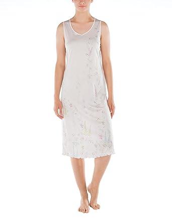 Calida Sleeveless Micromodal Nightgown in Blush Garden (X-Small (4-6 ... e87709f09