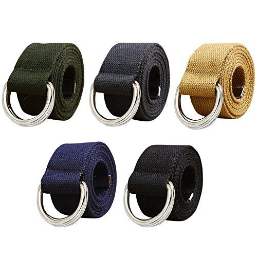 ishine cinturones hombre elasticos Mujer Ocio Cinturón de Lona  Semi-circular Externo Cinturón para Jeans y Pantalones Casuales  Amazon.es   Ropa y accesorios 06086360199e