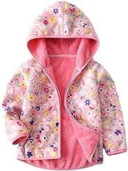 Girls Polar Fleece Jackets Hoodie Jackets Reversible Coats Spring Outerwear