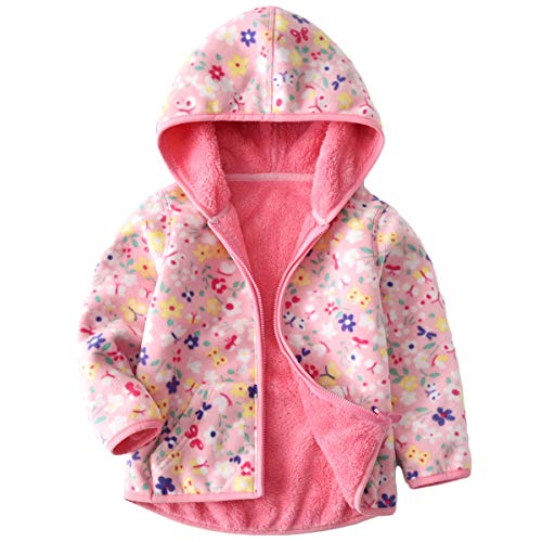 - Baby Girls Polar Fleece Jackets Hoodie Jackets Reversible Coats Spring Outerwear