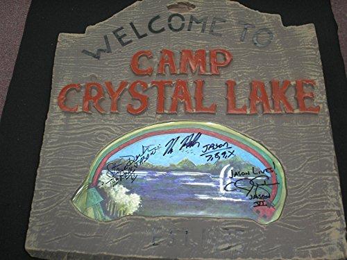 kane-hodder-cj-graham-steve-dash-3x-signed-crystal-lake-sign-jason-voorhees-friday-the-13th