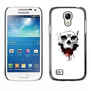 // PHONE CASE GIFT // Duro Estuche protector PC Cáscara Plástico Carcasa Funda Hard Protective Case for Samsung Galaxy S4 Mini i9190 / Cráneo de la sangre /