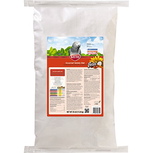 Kaytee Fiesta Fortified Bird Food for Parrots, 25-Pound by Kaytee