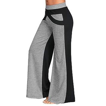 Pantalones de Yoga SUNNSEAN Suave Piernas Pantalones Anchos ...