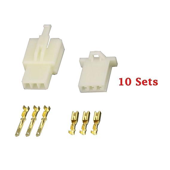 Amazon.com: 10 Sets/Kits 3 Pin/way DJ7031A-2.8 Electrical Wire ...